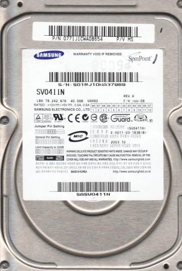 SV0411N, FW 100-08, A, Samsung 40GB IDE 3.5 Hard Drive