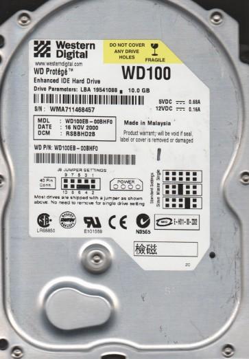 WD100EB-00BHF0, DCM RSBBHD2B, Western Digital 10GB IDE 3.5 Hard Drive