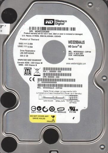 WD3200AAJS-22RYA0, DCM HARCHA2AHN, Western Digital 320GB SATA 3.5 Hard Drive