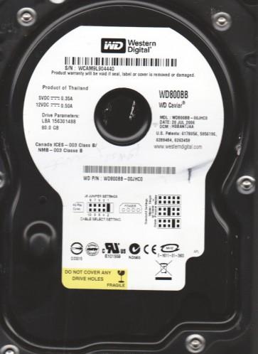 WD800BB-00JHC0, DCM HSBANTJAA, Western Digital 80GB IDE 3.5 Hard Drive