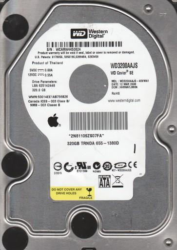 WD5000AAKS-75TMA0, DCM HHNCNV2CAB, Western Digital 500GB SATA 3.5 Hard Drive