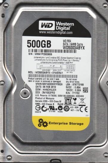 WD5003ABYX-01WERA1, DCM HHNCHVJCH, Western Digital 500GB SATA 3.5 Hard Drive