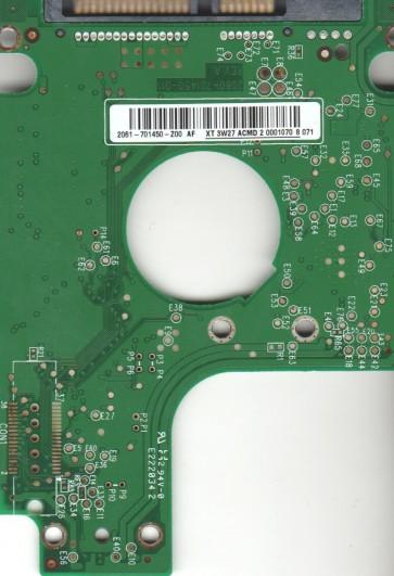 WD1600BEVS-60RST0, 2061-701450-Z00 AF, WD SATA 2.5 PCB