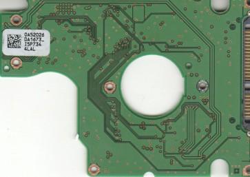 HTS541616J9SA00, PN 0A50530, 0A52026 DA1673_, Hitachi 160GB SATA 2.5 PCB