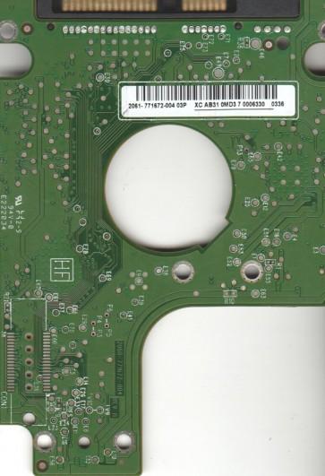WD1600BEVT-60A23T0, 2061-771672-004 03P, WD SATA 2.5 PCB