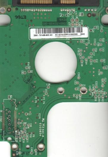 WD800BEVS-00UST0, 2061-701499-600 AC, WD SATA 2.5 PCB