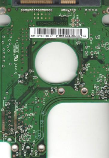 WD1200BEVS-60LAT0, 2061-701424-N00 AF, 007 REV A, WD SATA 2.5 PCB