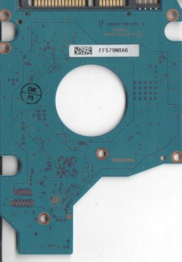 MK6037GSX, HDD2D63 D ZM01 T, G5B001851000-A, Toshiba 60GB SATA 2.5 PCB