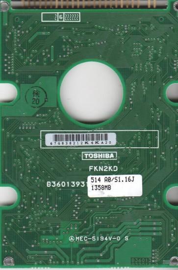 MK2720FV, HDD2612 C ZE01, B36013932014-A, Toshiba 1.3GB IDE 2.5 PCB