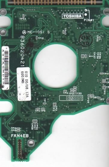 MK6015MAP, HDD2146 Y ZE01 T, B36020422010-A, Toshiba 6GB IDE 2.5 PCB