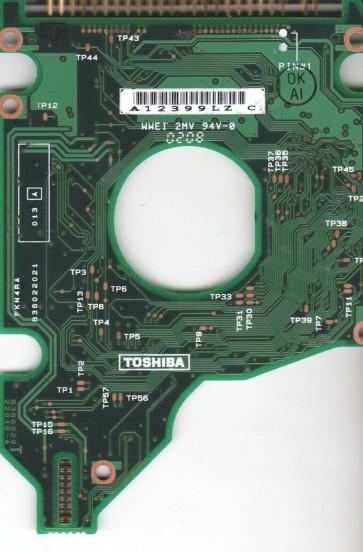 MK4018GAP, HDD2166 F ZE01 T, B36022022010-A, Toshiba 40GB IDE 2.5 PCB