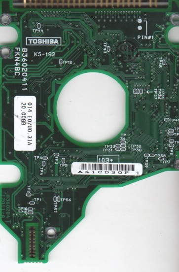 MK2016GAP, HDD2154 W ZE01 T, B36020412011-A, Toshiba 20GB IDE 2.5 PCB