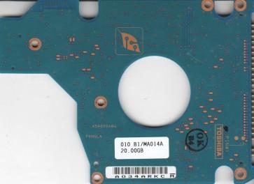 MK2023GAS, HDD2187 U ZE01 T, G5B000484000-A, Toshiba 20GB IDE 2.5 PCB