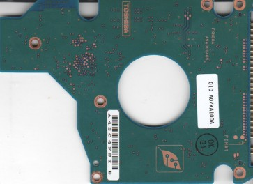 MK4025GAS, HDD2190 F ZE01 T, G5B000465000-A, Toshiba 40GB IDE 2.5 PCB