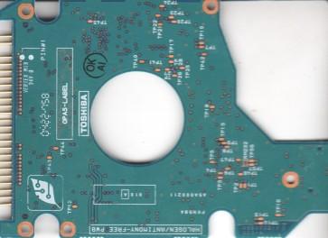 MK6021GAS, HDD2183 B ZEO1 S, G5B000211000-A, Toshiba 60GB IDE 2.5 PCB