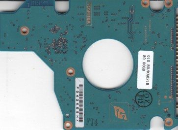 MK8025GAS, HDD2188 P ZE01 S, G5B000465000-A, Toshiba 80GB IDE 2.5 PCB