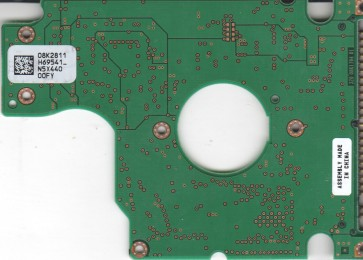 IC25N030ATMR04-0, PN 13G1815, 08K2811 H69541_, Hitachi 30GB IDE 2.5 PCB