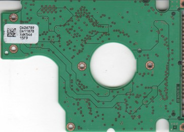 HTS421260H9AT00, 0A26789 DA1187B, PN 0A26306, Hitachi 60GB IDE 2.5 PCB