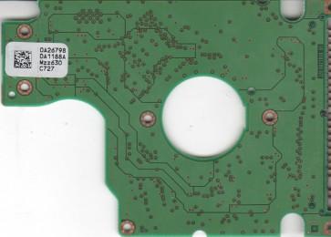 HTS541060G9AT00, 0A26798 DA1188A, PN 0A25393, Hitachi 60GB IDE 2.5 PCB