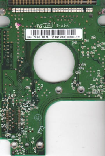WD1200UE-22KVT0, 2061-701402-200 AC, WD IDE 2.5 PCB