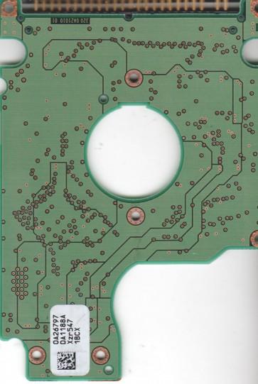 HTS541040G9AT00, 0A26797 DA1188A, PN 0A25372, Hitachi 40GB IDE 2.5 PCB