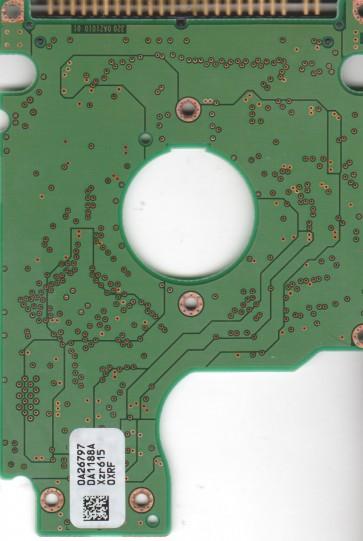 HTS541040G9AT00, PN 0A25382, 0A26797 DA1188A, Hitachi 40GB IDE 2.5 PCB