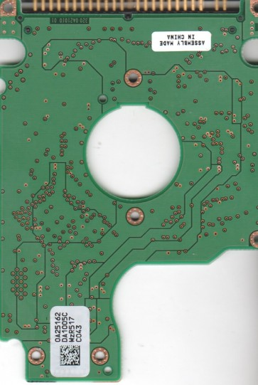 HTS541060G9AT00, 0A25162 DA1005C, PN 13G1583, Hitachi 60GB IDE 2.5 PCB