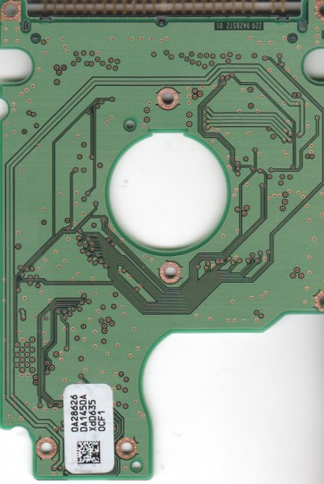 HTS541616J9AT00, 0A28626 DA1450A, PN 0A50682, Hitachi 160GB IDE 2.5 PCB