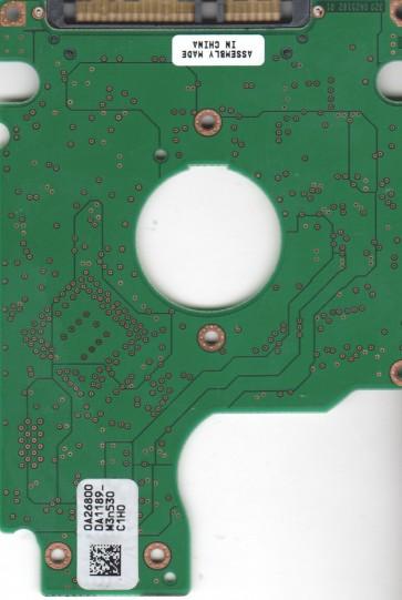 HTS541010G9SA00, 0A26800 DA1189_, PN 0A27410, Hitachi 100GB SATA 2.5 PCB