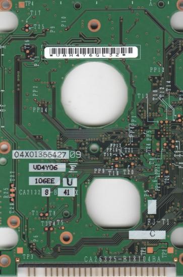 MHT2040AH PL, PN CA06377-B11400DL, Fujitsu 40GB IDE 2.5 PCB