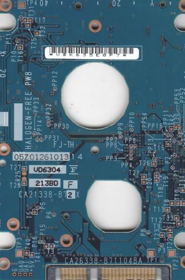 MHV2100BH, PN CA06672-B22500DL, Fujitsu 100GB SATA 2.5 PCB