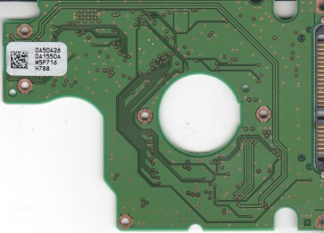 HTS541612J9SA00, 0A50426 DA1550A, PN 0A50519, Hitachi 120GB SATA 2.5 PCB