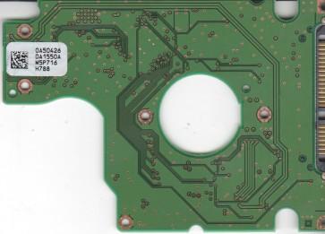 HTS541680J9SA00, 0A50426 DA1550A, PN 0A55731, Hitachi 80GB SATA 2.5 PCB