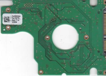 HTS541680J9SA00, 0A52026 DA1673_, PN 0A50528, Hitachi 80GB SATA 2.5 PCB