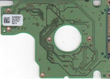 HTS541680J9SA00, 0A52026 DA1673_, 0A55731, DA2043, Hitachi SATA 2.5 PCB