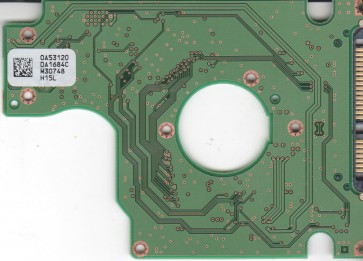 HTS542525K9SA00, 0A53120 DA1684C, 0A54976, DA2031, Hitachi SATA 2.5 PCB