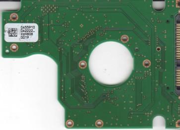 HTS723232L9SA60, 0A55910 DA2222_, PN 0A58837, Hitachi 320GB SATA 2.5 PCB