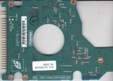 MK4021GAS, HDD2182 B ZE01 T, G5B000211000-A, Toshiba 40GB IDE 2.5 PCB