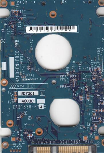 MHV2100BH PL, PN CP170863-01, Fujitsu 100GB SATA 2.5 PCB