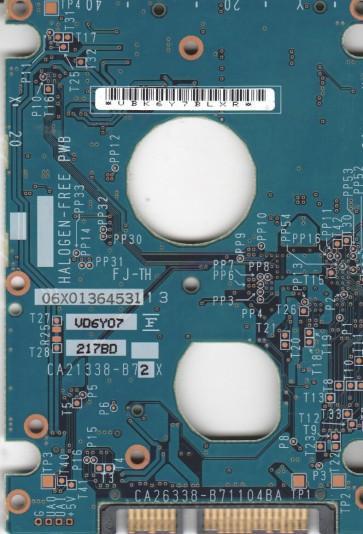 MHV2040BH, PN CP170825-01, Fujitsu 40GB SATA 2.5 PCB