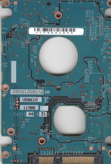 MHY2060BH, PN CP170891-01, Fujitsu 60GB SATA 2.5 PCB