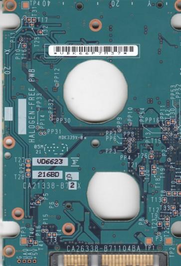 MHV2060BH, PN CP170826-01, Fujitsu 60GB SATA 2.5 PCB