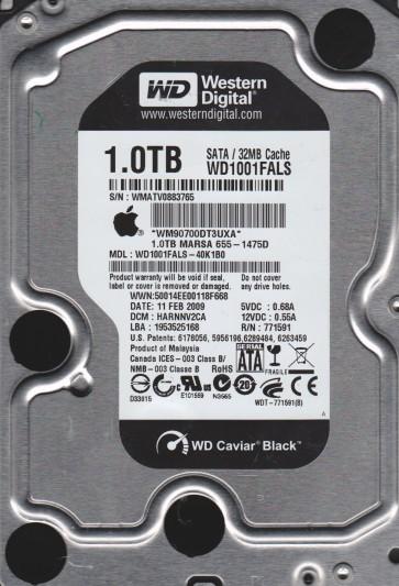 WD1001FALS-40K1B0, DCM HARNNV2CA, Western Digital 1TB SATA 3.5 Hard Drive
