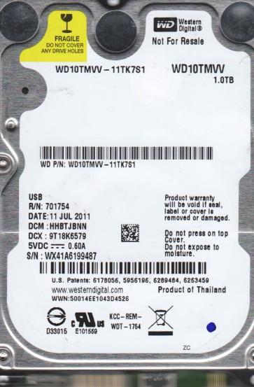 WD10TMVV-11TK7S1, DCM HHBTJBNN, Western Digital 1TB USB 2.5 Hard Drive