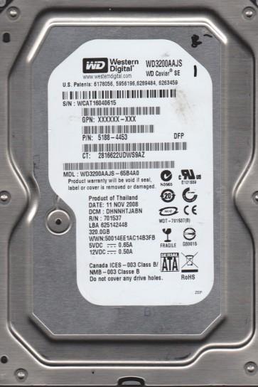 WD3200AAJS-65B4A0, DCM DHNNHTJABN, Western Digital 320GB SATA 3.5 Hard Drive
