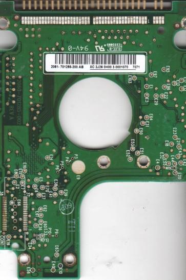 WD800VE-75HDT1, 2061-701285-200 AB, WD IDE 2.5 PCB