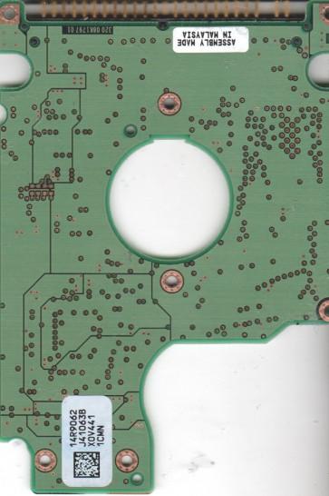 HTS548080M9AT00, 14R9062 J41063B, PN 0A25837, Hitachi 80GB IDE 2.5 PCB