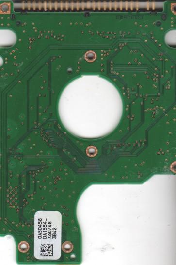 HTS421260H9AT00, 0A50458 DA1554_, PN 0A27466, Hitachi 60GB IDE 2.5 PCB