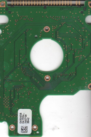HTS541616J9AT00, 0A50458 DA1554_, PN 0A28419, Hitachi 160GB IDE 2.5 PCB