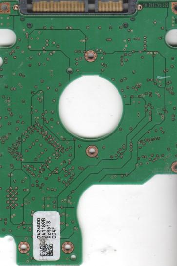 HTS541080G9SA00, 0A26800 DA1189B, PN 0A27404, Hitachi 80GB SATA 2.5 PCB